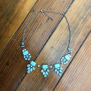 Blue & Grey Statement Necklace